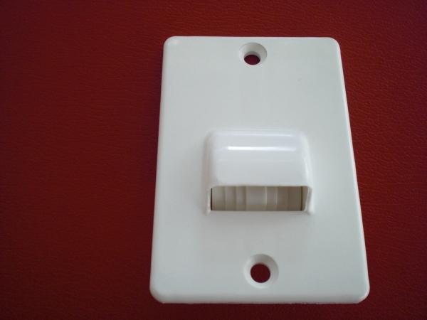 aufschraub gurtf hrung f r 23 mm gurtbreite leitrolle abdeckung rolladen maxi ebay. Black Bedroom Furniture Sets. Home Design Ideas